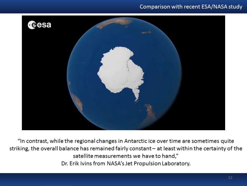 Briefly introduction to current ESA/NASA study published recently in Science