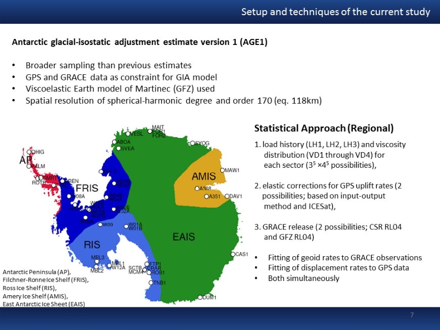 Statistical Approach for GIA modeling and ice-mass estimation using GRACE and GPS data