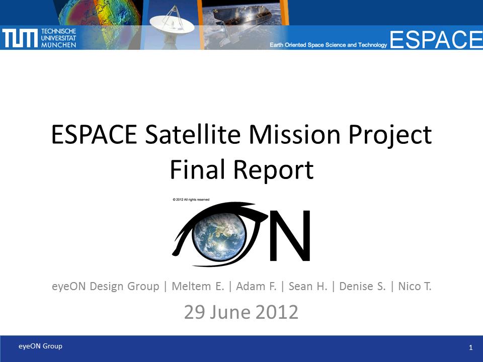 ESPACE Satellite Mission Project